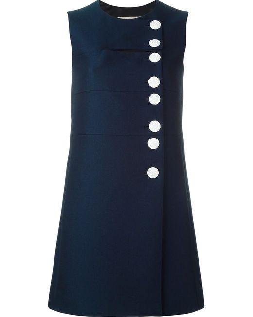 Emilio Pucci | Женское Синий Buttoned Mini Dress