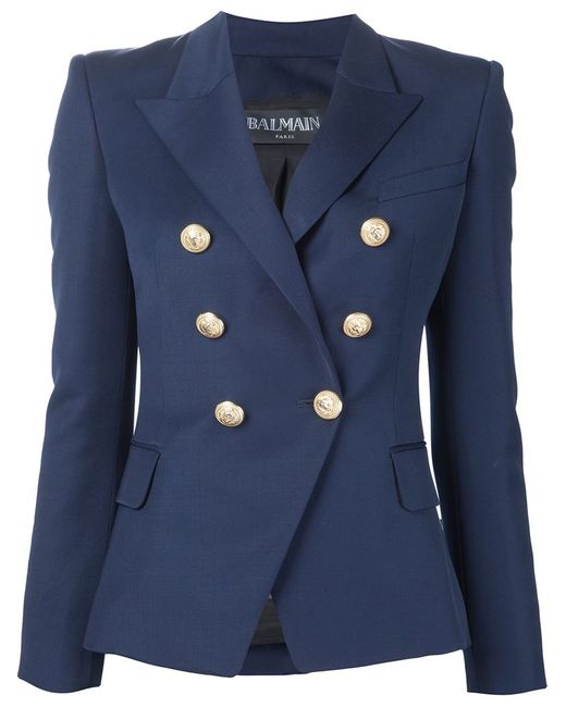 Balmain | Женское Синий Double Breasted Blazer
