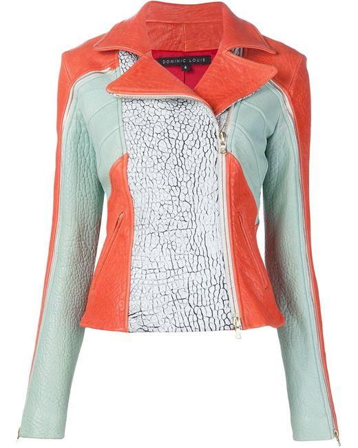 DOMINIC LOUIS   Женское Красный Panelled Biker Jacket