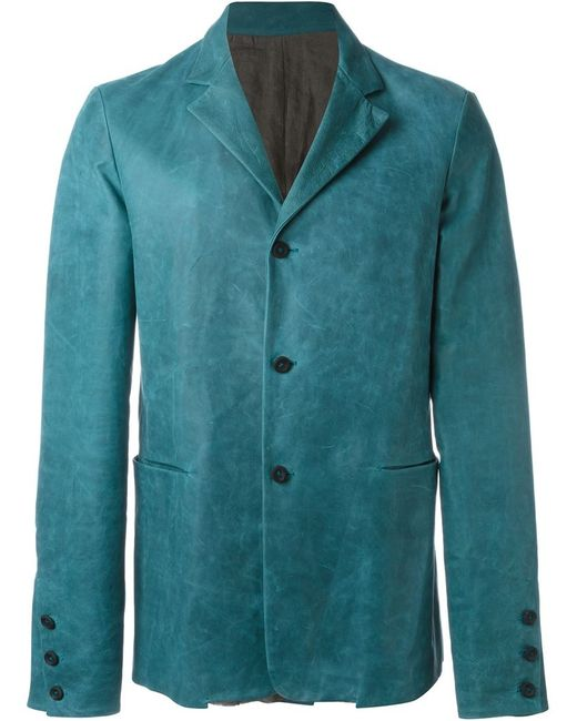 MA+ | Мужское Синий Classic Buttoned Blazer