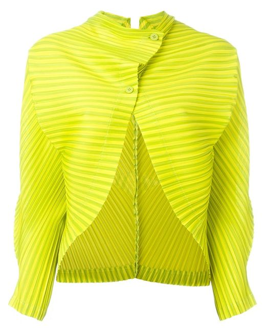 PLEATS PLEASE BY ISSEY MIYAKE   Женское Зелёный Pleated Cropped Jacket