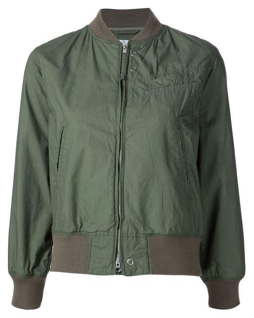 Engineered Garments | Женское Зелёный Cropped Bomber Jacket