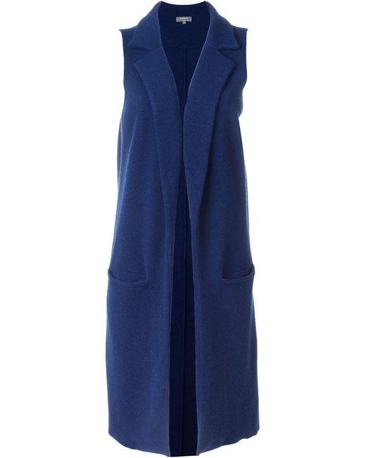 N.PEAL | Женская Синяя Длинной Жилет Milano