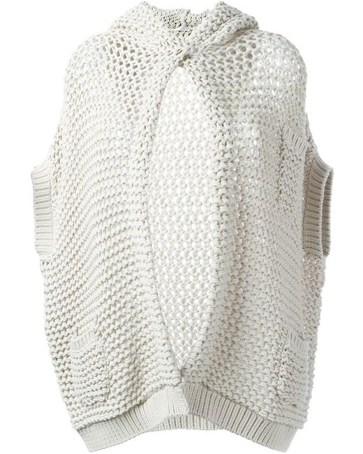 Brunello Cucinelli | Женское Nude & Neutrals Chunky-Knit Hooded Cardigan