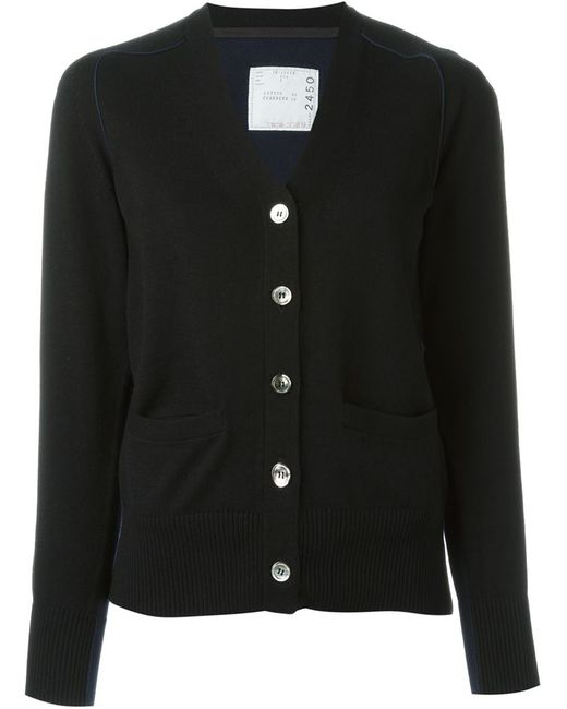 Sacai   Женское Чёрный Bi-Colour Cardigan