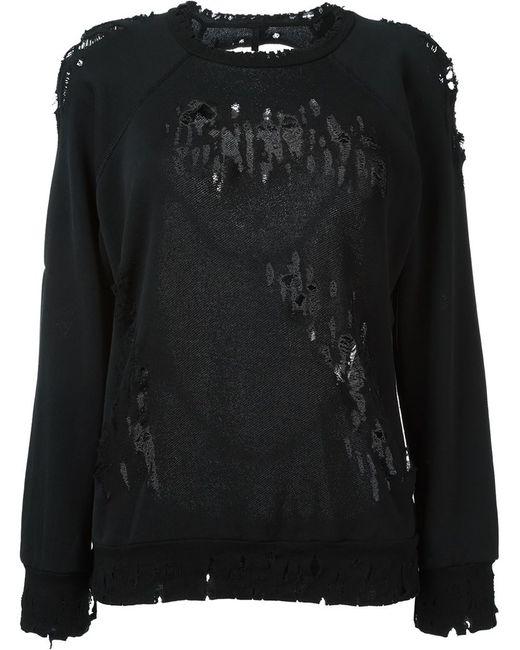 UNRAVEL   Женское Чёрный Destroyed Sweater