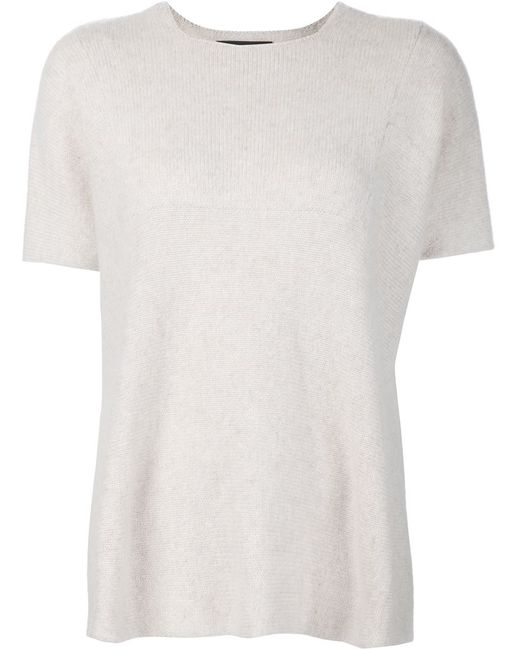 The Elder Statesman | Женское Nude & Neutrals Knitted T-Shirt