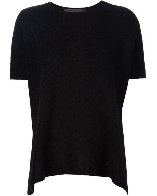 The Elder Statesman   Женское Чёрный Knitted T-Shirt
