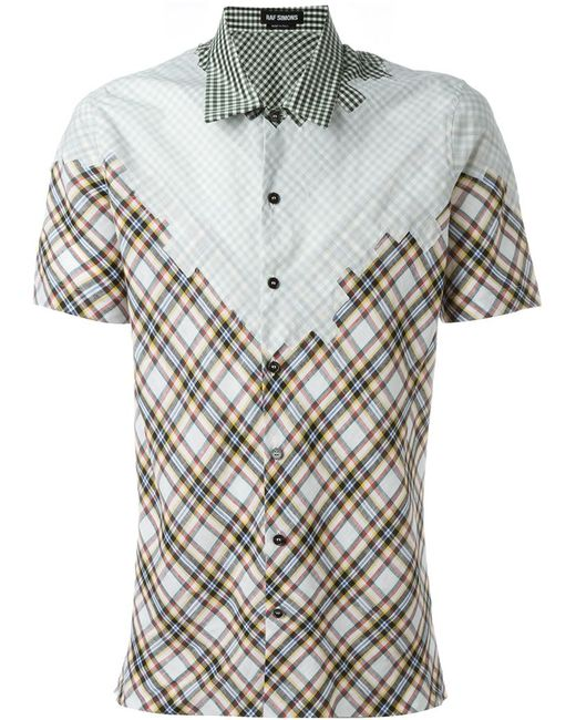 Raf Simons | Мужская Многоцветная Рубашка В Клетку