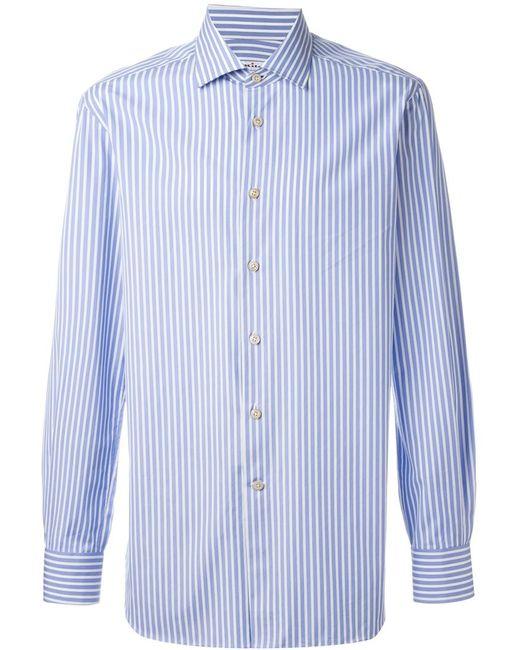 Kiton | Мужская Синяя Полосатая Рубашка