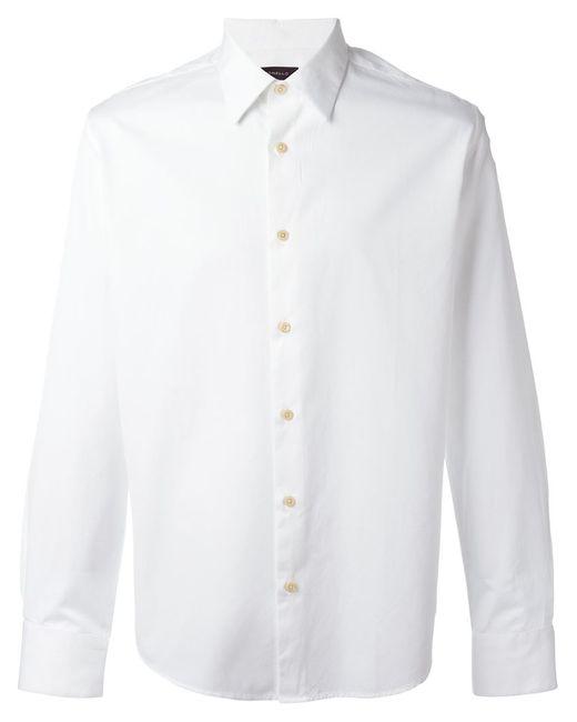 Tonello   Мужская Белая Классическая Рубашка На Пуговицах