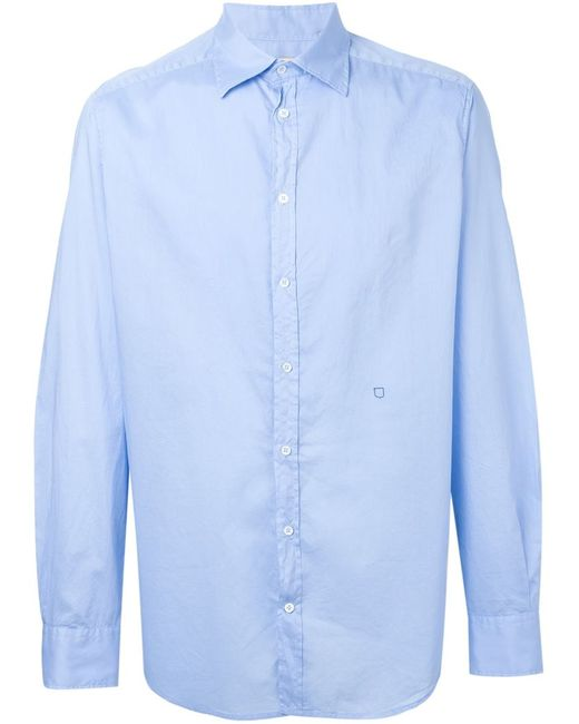 Massimo Alba | Мужское Синий Stitch Detail Shirt