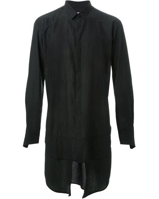 STRATEAS CARLUCCI   Мужская Чёрная Рубашка С Многослойным Подолом