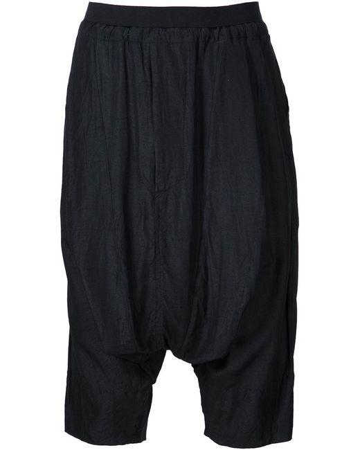JULIUS   Мужское Чёрный Lightweight Harem Shorts