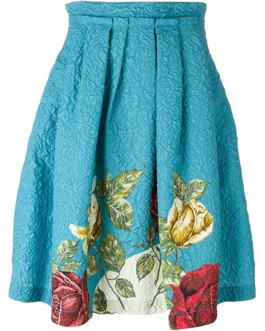 Antonio Marras | Женская Синяя Фактурная Юбка С Цветочным Принтом