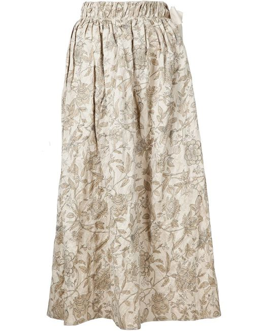 UMA WANG | Женское Nude & Neutrals Print Skirt