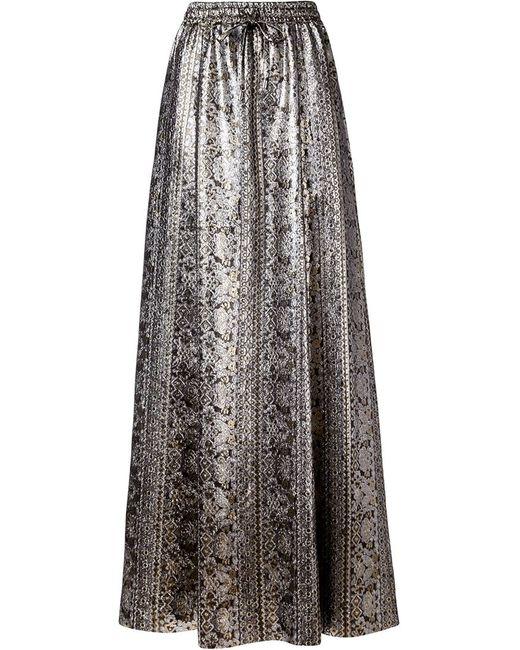 VANESSA SEWARD | Женское Серебристый Brocade Maxi Skirt