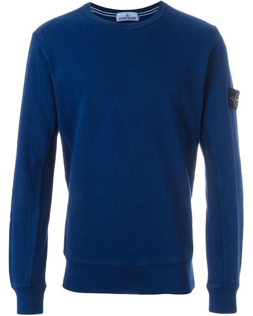 Stone Island | Мужское Синий Logo Patch Sweatshirt