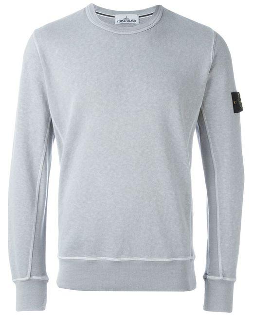 Stone Island | Мужское Серый Logo Sleeve Patch Sweatshirt