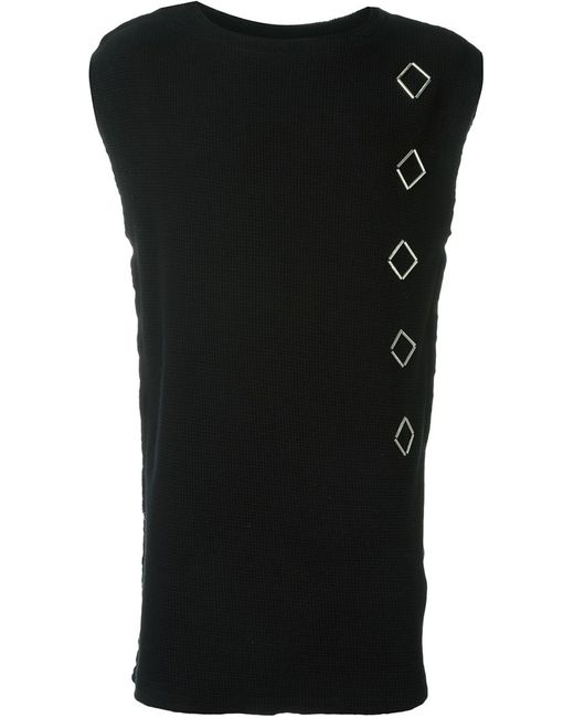 Damir Doma | Мужское Чёрный Lozenge Applications Sleeveless Sweatshirt