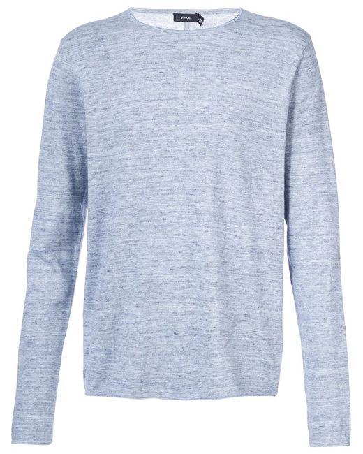 Vince   Мужское Синий Crew Neck Sweater