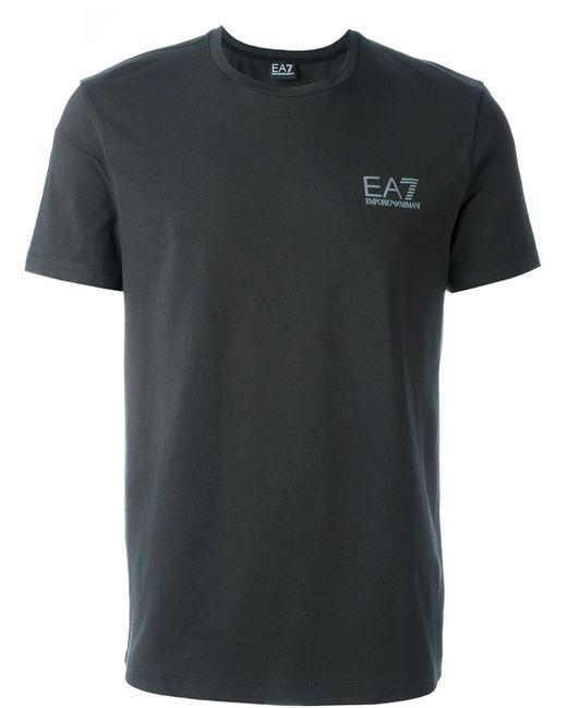 EA7 | Мужское Серый Side Logo T-Shirt