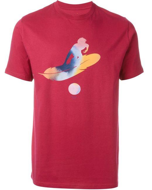 Paul Smith Red Ear | Мужская Розовая Футболка С Абстрактным Принтом