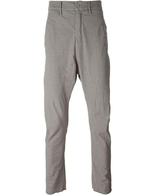 Poème Bohèmien   Мужское Серый Drop Crotch Trousers