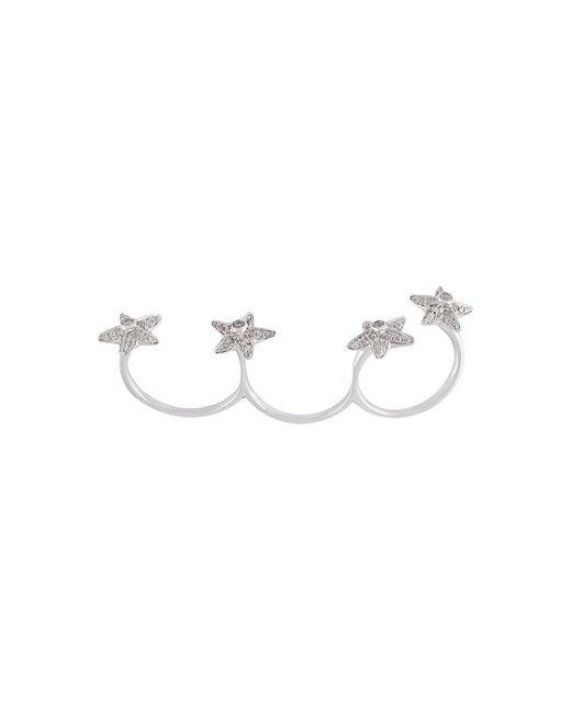 ELISE DRAY | Женское Серебристый Diamond Star Three Finger Ring