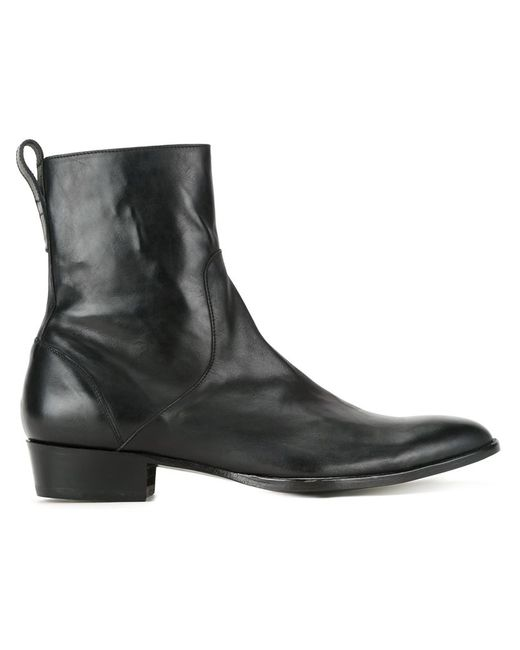 HL HEDDIE LOVU | Мужские Чёрные Ботинки На Молнии