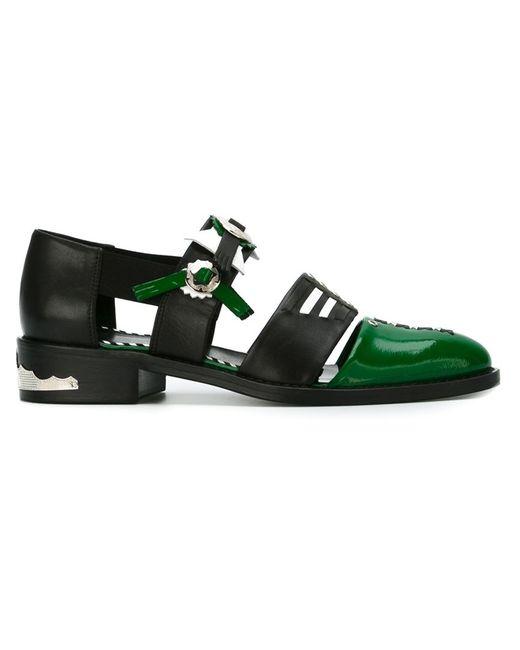 Toga | Женское Чёрный Embellished Cut-Out Shoes