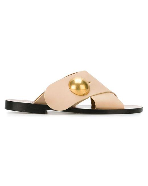 Chloe | Женское Nude & Neutrals Chloé Sphere Detail Flat Sandals