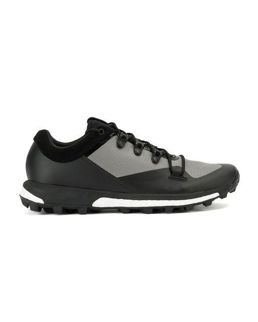 Adidas   Мужские Чёрные Кроссовки С Панельным Дизайном Y3 X