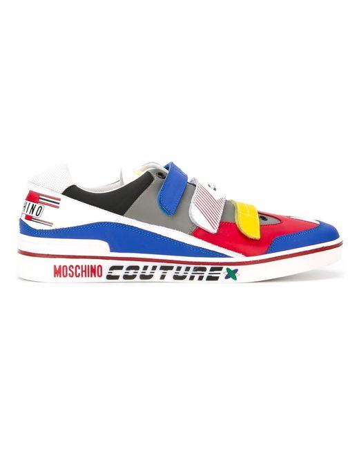 Moschino | Мужские Многоцветные Кроссовки С Панельным Дизайном