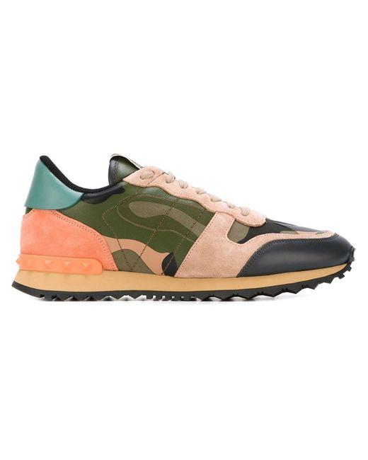Valentino Garavani | Женское Зелёный Rockrunner Camouflage Sneakers