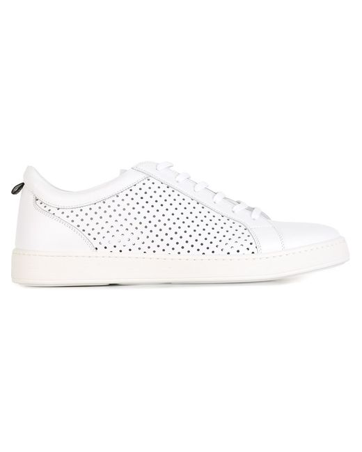 Kiton | Мужское Белый Perforated Sneakers