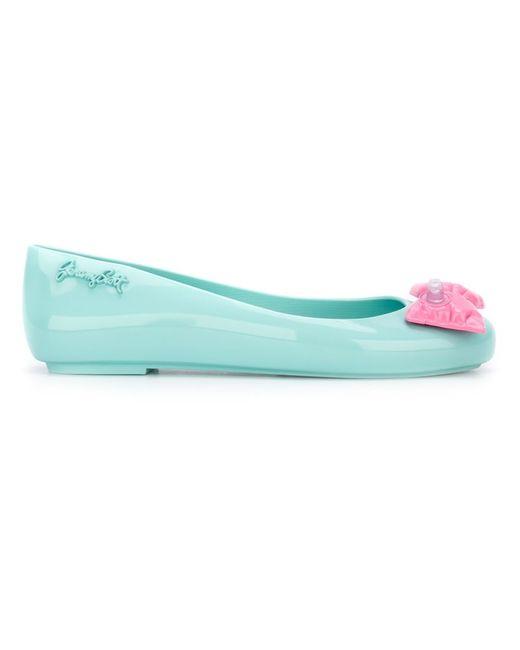 MELISSA + JEREMY SCOTT   Женское Синий Inflatable Bow Detail Ballerina Shoes