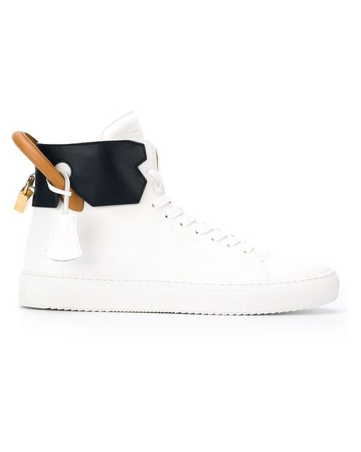 Buscemi | Мужское Белый Tricolour Padlock Sneakers