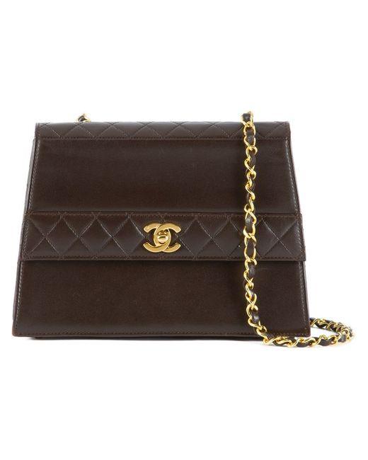 Chanel Vintage | Женская Коричневая Стеганая Сумка На Плечо