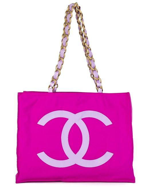 Chanel Vintage | Женская Розовая Сумка-Тоут С Логотипом
