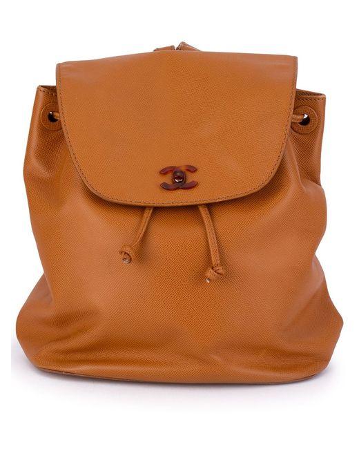 Chanel Vintage | Женский Коричневый Классический Рюкзак С Логотипом