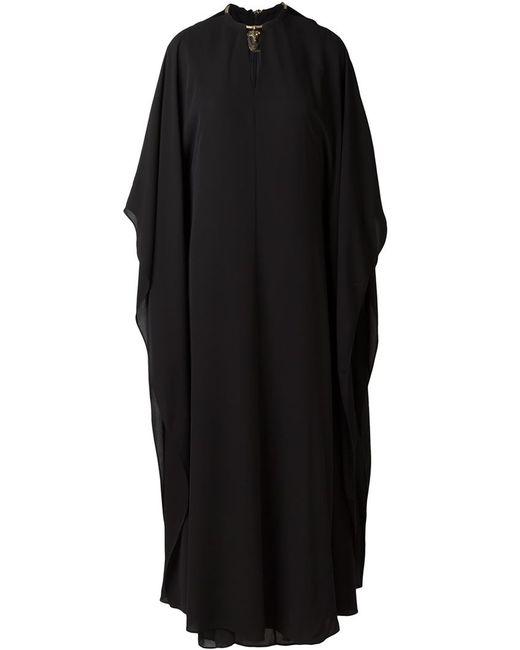 Valentino   Женское Чёрное Платье С Декорированной Горловиной