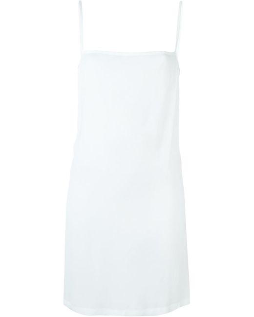 Ann Demeulemeester   Женское Белое Платье С Открытой Спиной