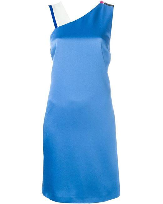 MSGM | Женское Синий Asymmetric Shoulders Dress