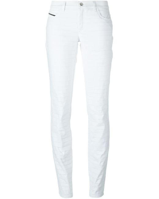 Diesel Black Gold | Женское Белый Skinny Pleated Trousers
