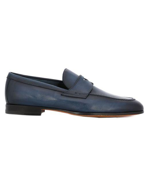 Santoni   Мужское Синий Classic Loafers