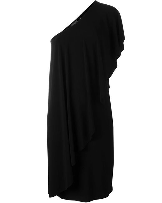 Norma Kamali | Женское Чёрное Платье На Одно Плечо