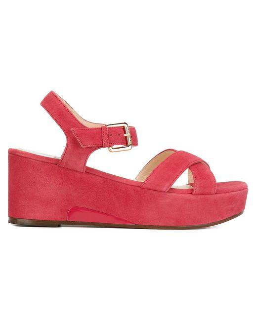 L' Autre Chose | Женское Красный Sling Back Wedge Sandals