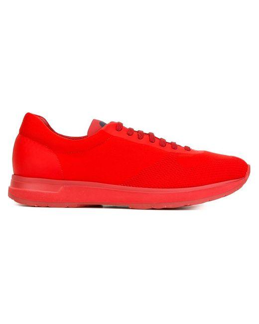 Moncler | Мужские Красные Кроссовки New Montego