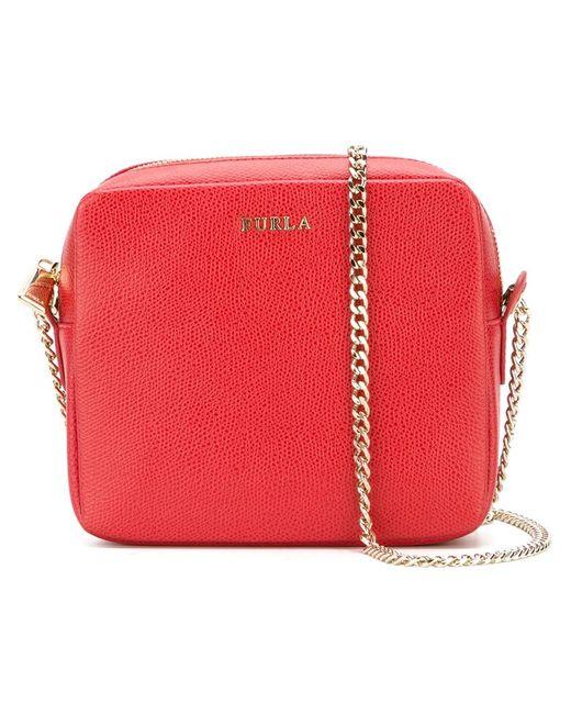 Furla   Женское Красный Square Cross Body Bag